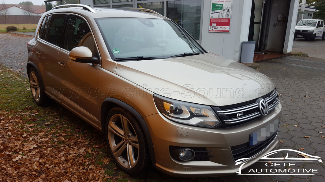 vw tiguan 5n 2 0 tdi active sound retrofitting. Black Bedroom Furniture Sets. Home Design Ideas